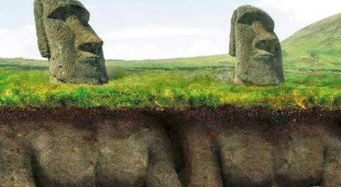 复活节岛惊现神秘石像,专家地下深挖10米