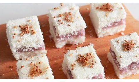 沙沙软软桂花糕,香甜桂花加蜂蜜,吃着甜丝丝美滋滋