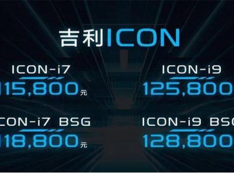 吉利ICON上市 标配如何?买哪款更合适?