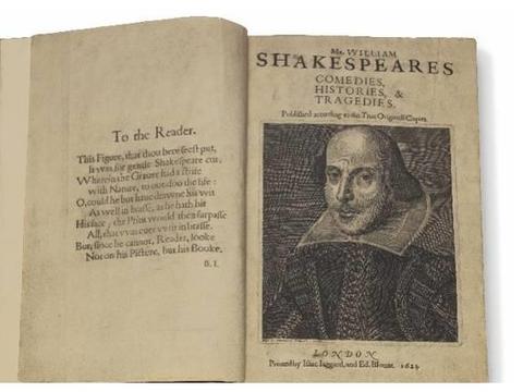 出版界的圣杯!佳士得四月纽约隆重呈现莎士比亚《第一对开本》