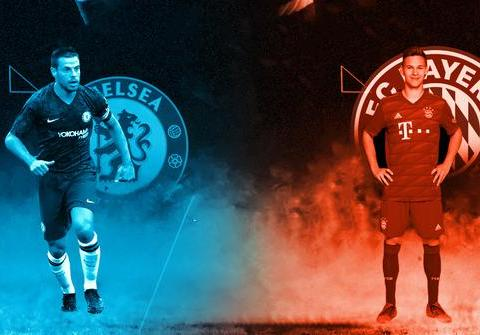 切尔西vs拜仁首发:莱万、穆勒领衔