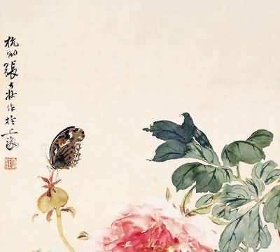 看海上画派大师张大壮画的富贵牡丹花中之王