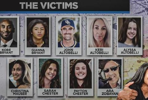 与科比同机遇难家庭均将起诉 直升机公司难获保险赔偿或宣布破产