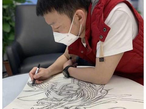 《流浪地球》导演郭帆手绘杂志封面 致敬一线医护人员
