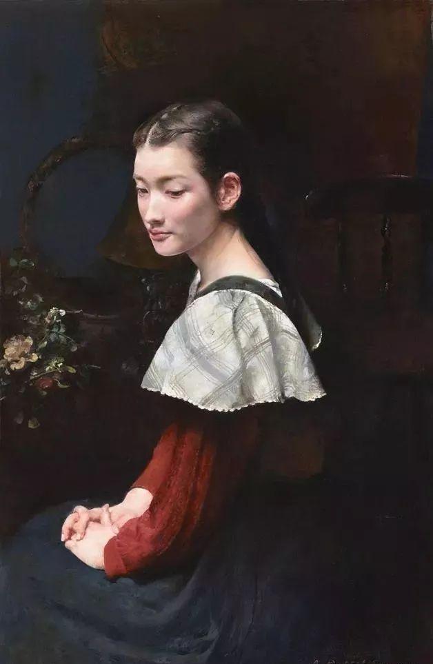 广州美院老教授郭润文古典主义人体油画作品欣赏