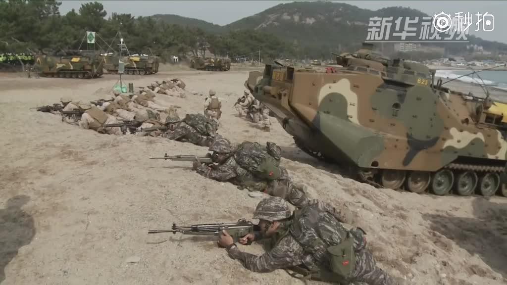 """韩美启动""""秃鹫""""联合军演"""
