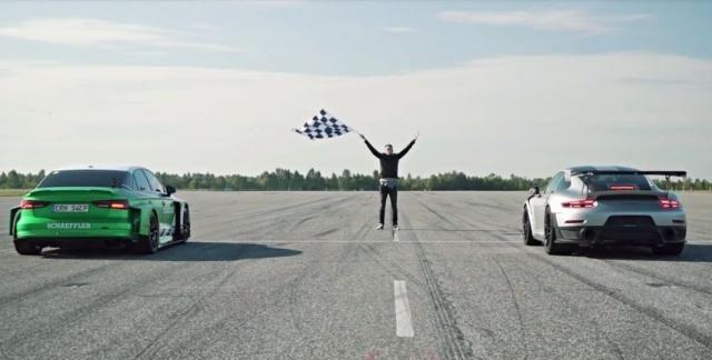 道路版FormulaE 电动版《奥迪 RS3》直线加速