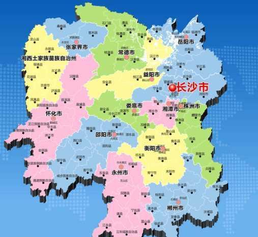 湖南地�_最新版: 湖南只有两个地级市属于三线城市!