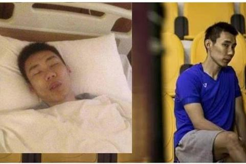 李宗伟患癌住院照片曝光 躺在病床昏睡,骨瘦如柴健康令人担忧