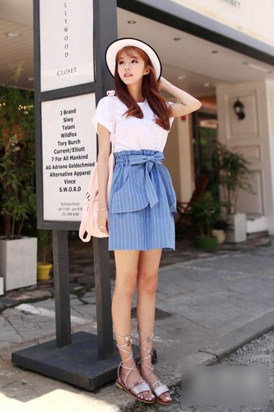 雪纺衫 半身裙甜美,夏季淑女装扮