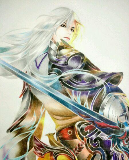 王者荣耀系列之彩铅手绘,真帅气啊!