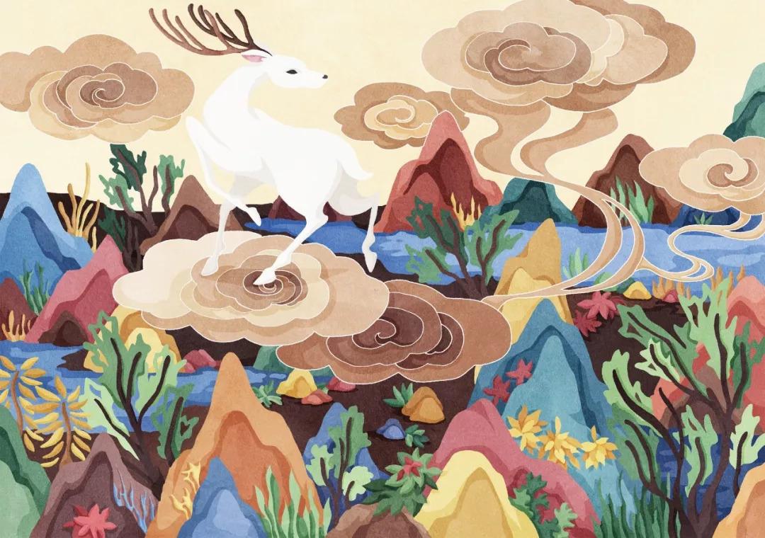 ps手绘板「平涂肌理风」插画10节课报名啦,画出风格和氛围