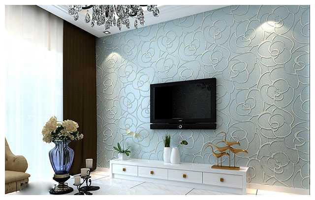 """客厅3d电视墙装修,用硅藻泥""""够环保""""吧?"""