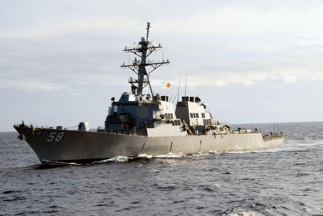 7月7日上午,美国两艘军舰穿越台湾海峡