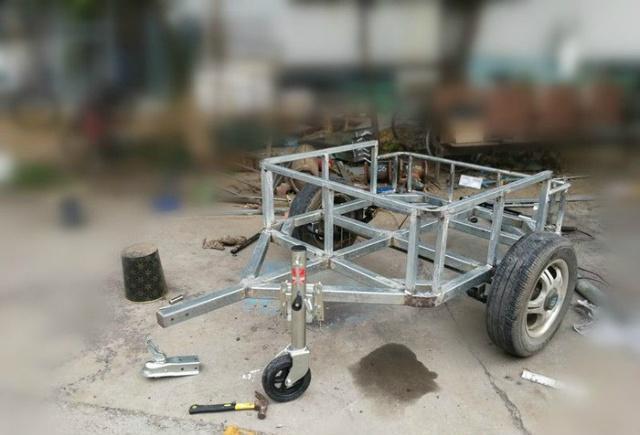 昂科威车主自制suv小拖车,从草图到成品:自驾游的利器