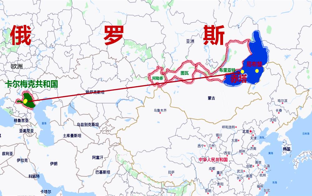 俄罗斯有四个蒙古人共和国,为啥独独卡尔梅克被
