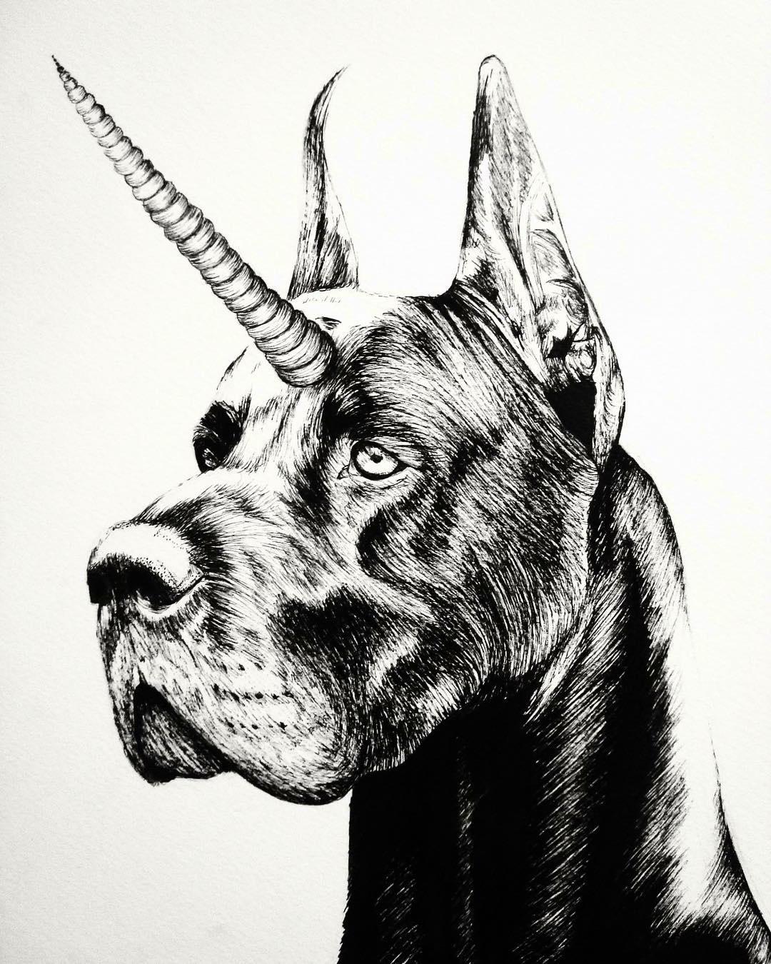 元素重组黑白动物插画