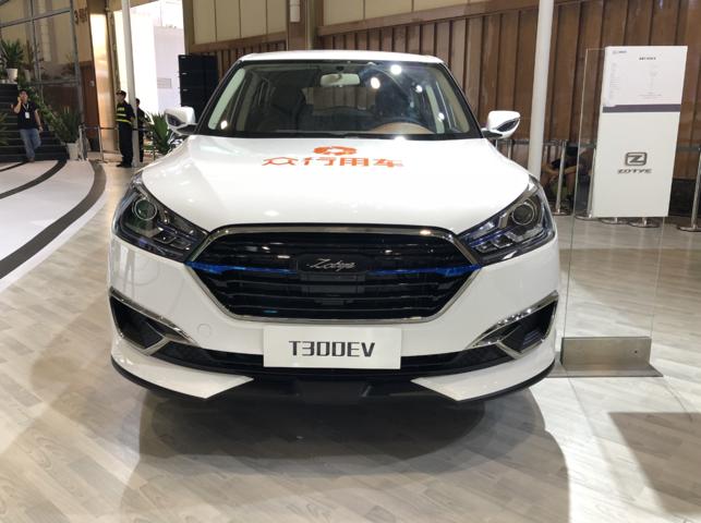众泰汽车T300 EV 亮相成都车展 最大续航250公里