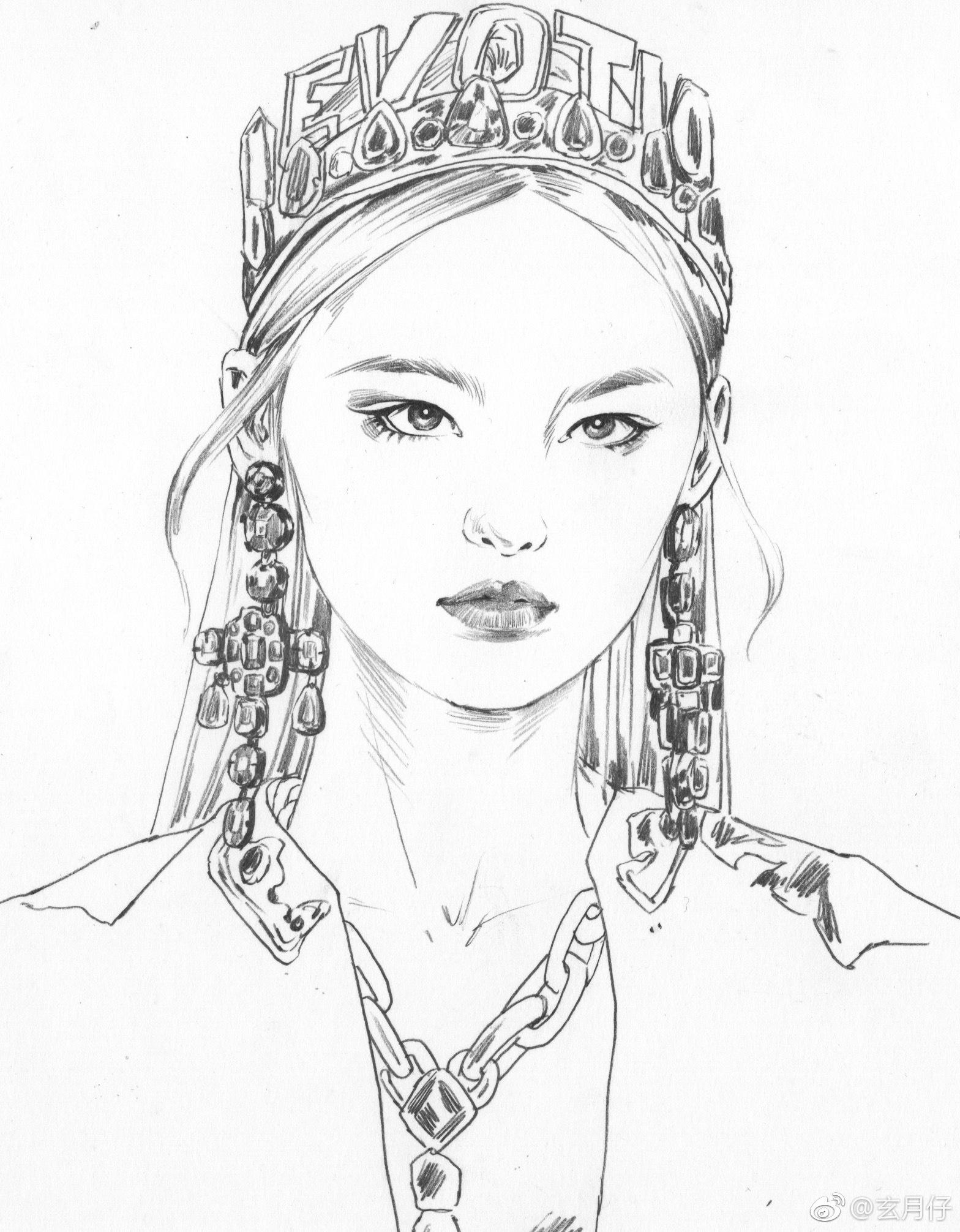 头�_dolce&gabbana秀场头部速写投稿