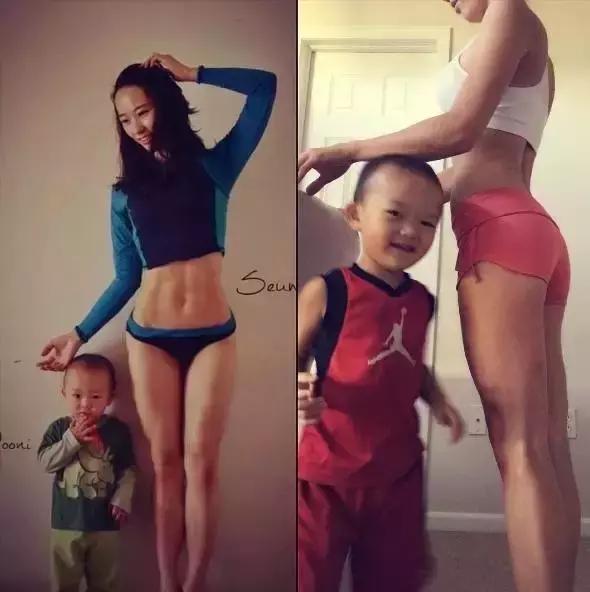 不去健身房,不请教练,这个韩国辣妈带秘诀v教练,竟然刷脂56斤!快速瘦肚子的孩子图片