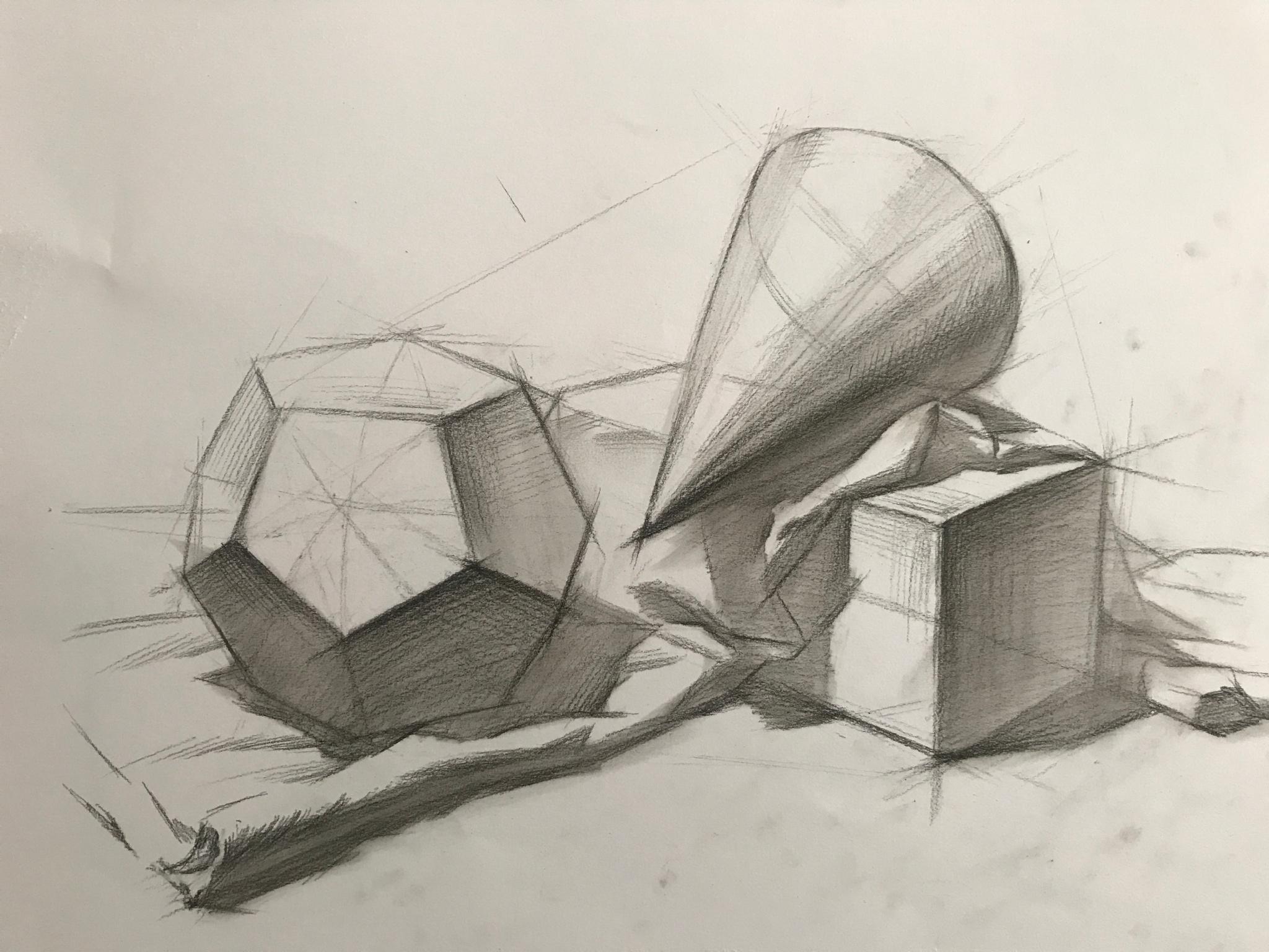 结构素描画法|物体|衬布|交界线_新浪网