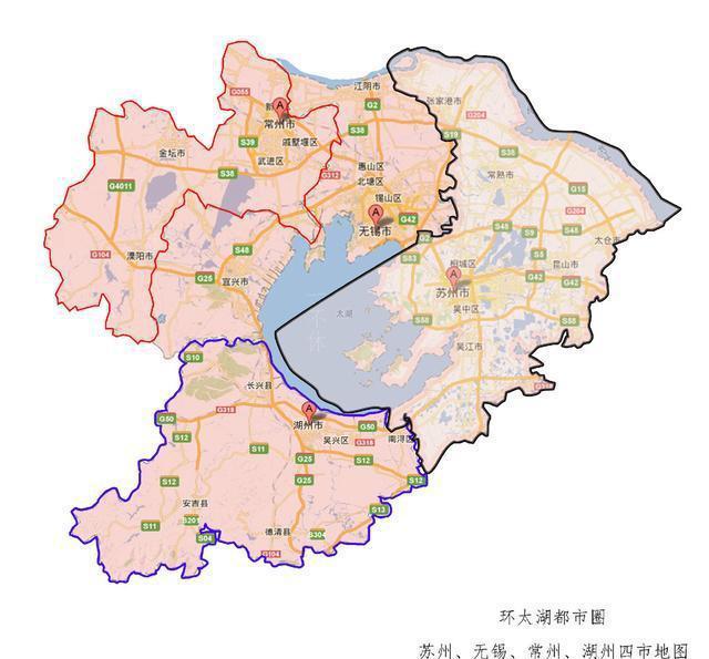 中国唯一因太湖而得名的城市, 对太湖却没管辖权图片