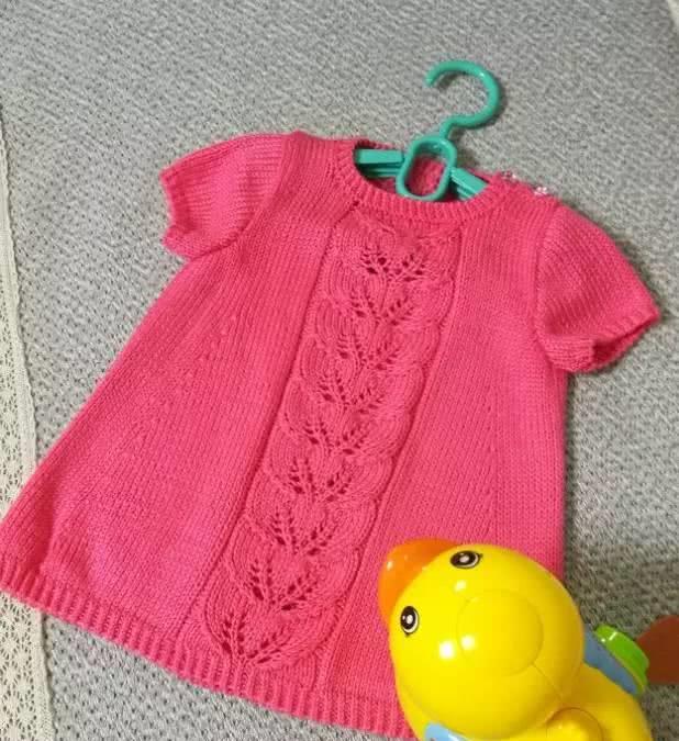 教你织一件镂空花样儿童短袖衫 平针 花样 扣眼_新浪网