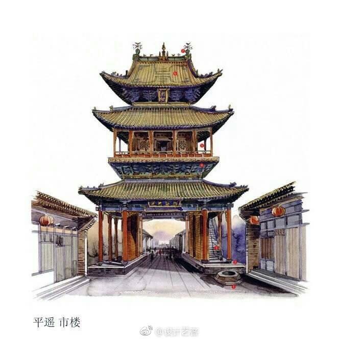 手绘| 中国古建筑剖析