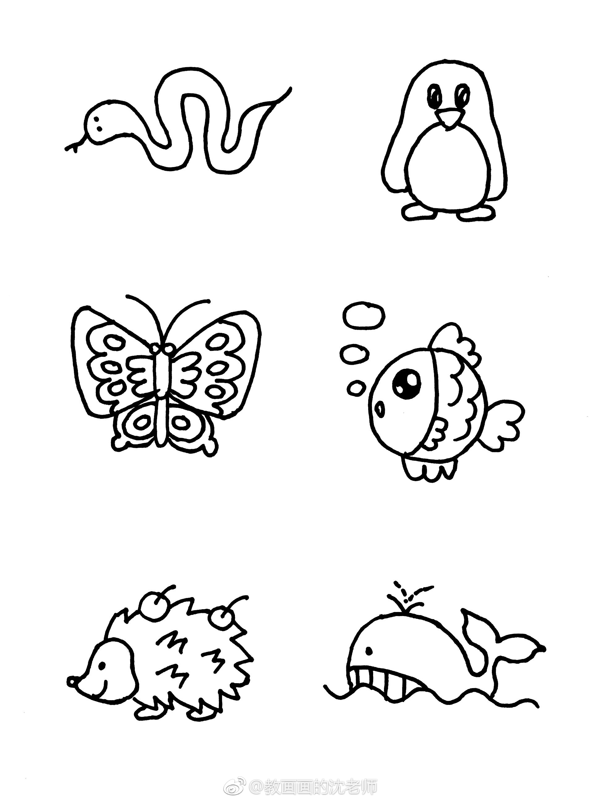 超可爱的动物简笔画大全,小朋友超爱的小动物简笔画