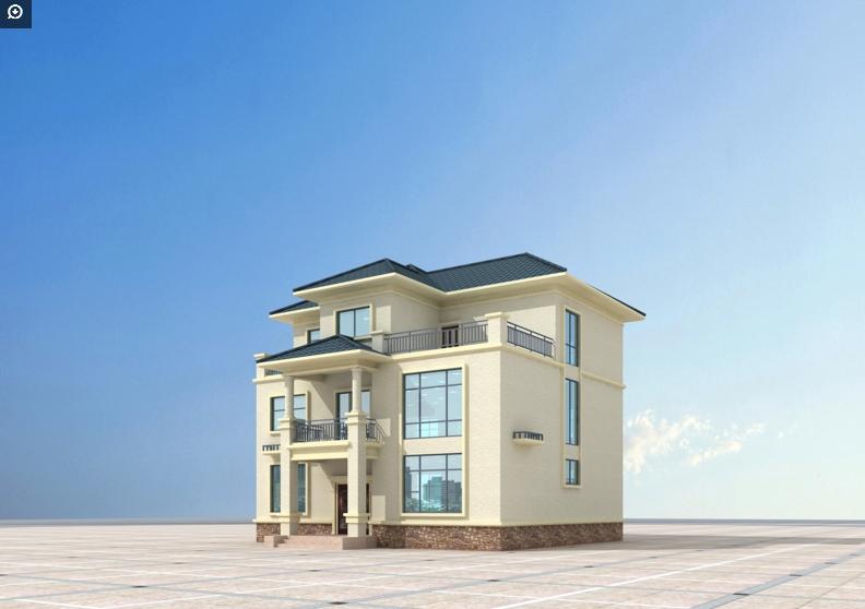 2018年准备建房的朋友免费看三层别墅设计图两层房屋效果图