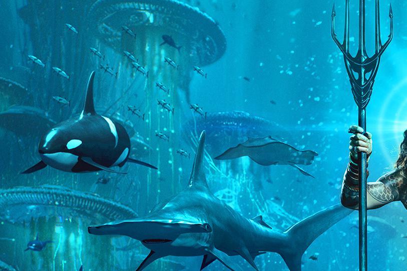 dc电影《海王》的海报终于来了,这设计非常不错!