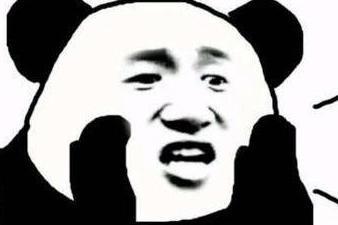 万万没想到你居然是这样重感情的熊猫头,熊猫头感动的流泪,还带着微笑图片