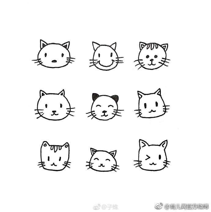 一组萌萌哒的简笔画小动物,留着陪孩子画个够!( 子姝)