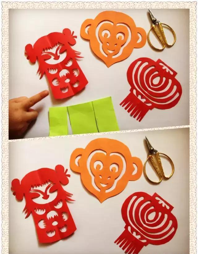 师讯网推荐——幼儿园新年手工大全教程,充满中华文化剪纸图解图片