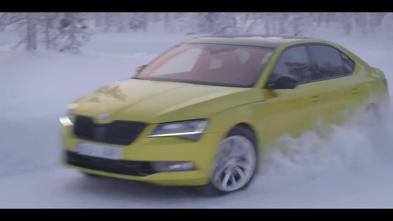 2018斯柯达Superb Sportline 4x4 雪地测试!  ?