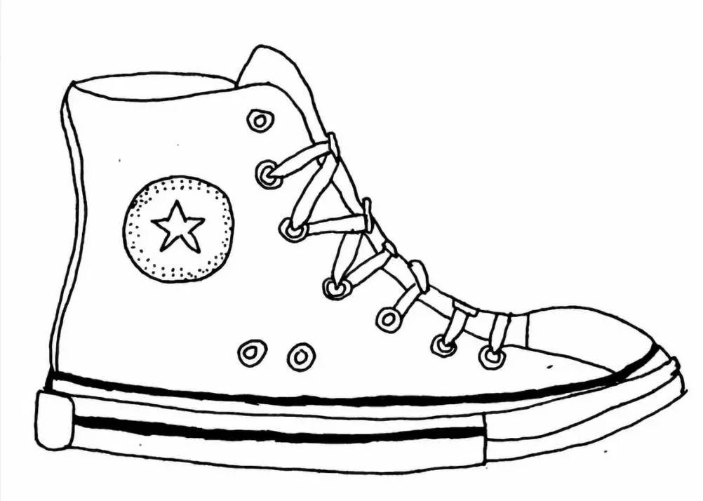 简笔画鞋子的画法教程步骤,教一步一步大家画鞋子