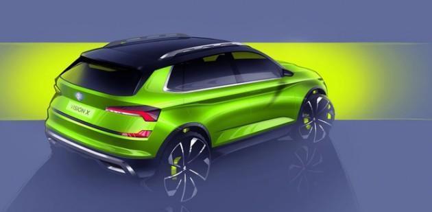 Skoda公布Vision X概念车草图