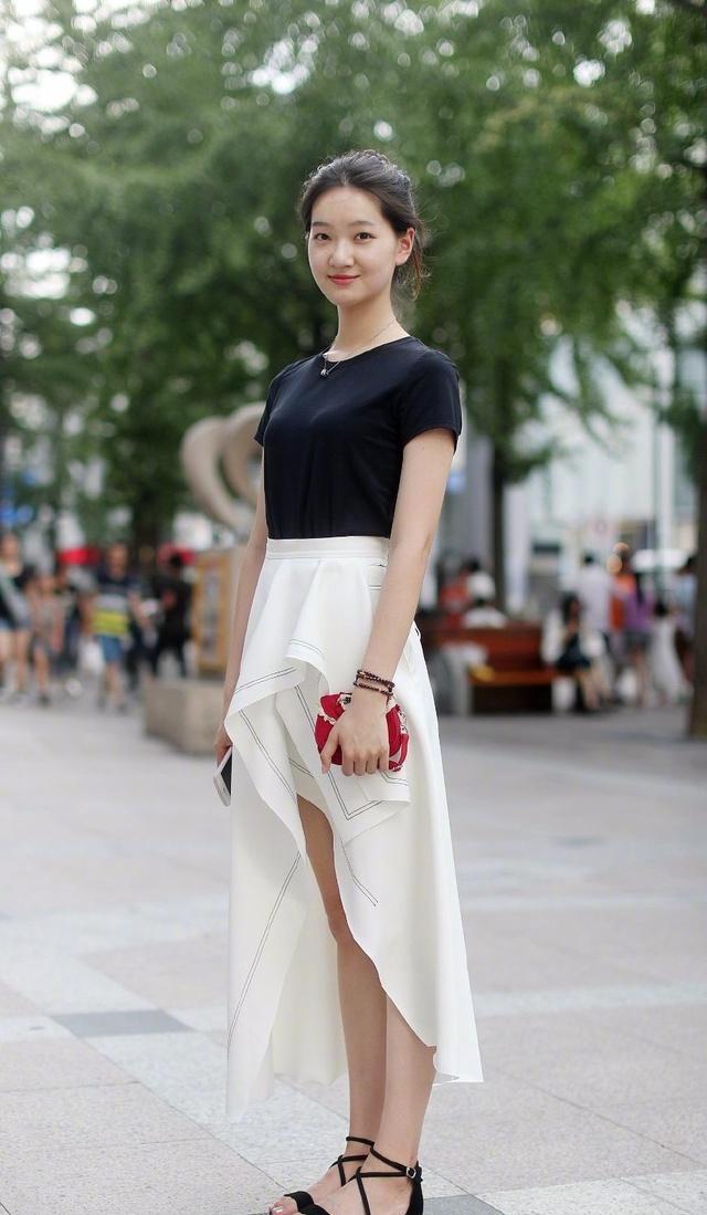 街拍美女�z(�y��9n�_在杭州街拍的美女, 清新而且时尚