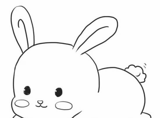 超可爱的小兔子简笔画,孩子的最爱