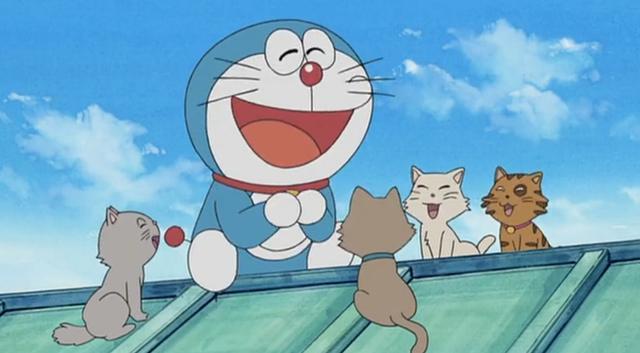哆啦A梦放假都干些啥?会找朋友玩还会撩妹