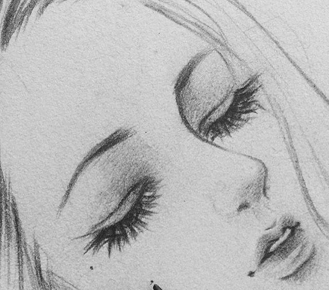 彩铅手绘人物肖像线稿,每个小姐姐都好漂亮