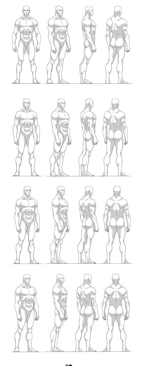 素材漫画男生红日练习人体动态图漫画大全图片