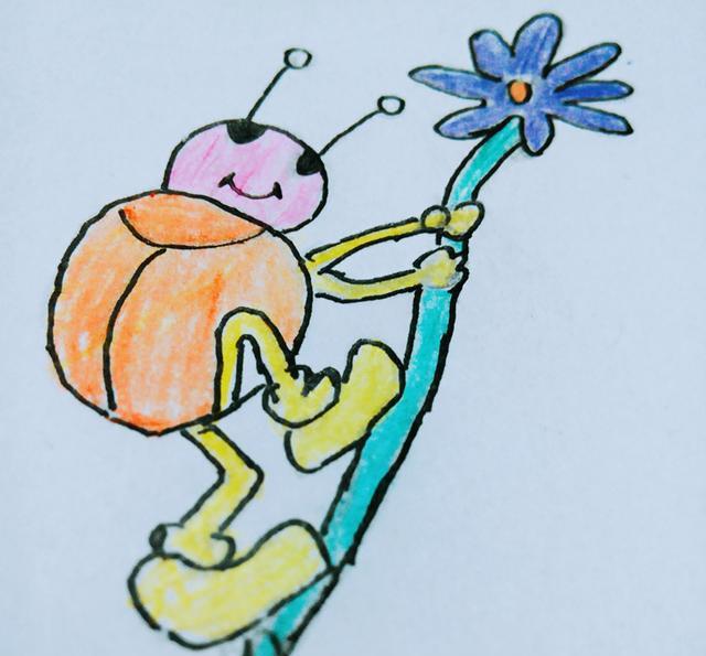 幼儿创意简笔画|星星瓢虫的简单画法