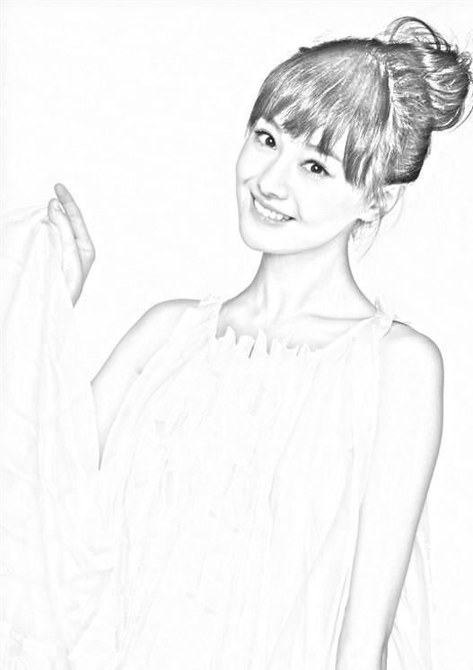 杨颖手绘图片 铅笔画