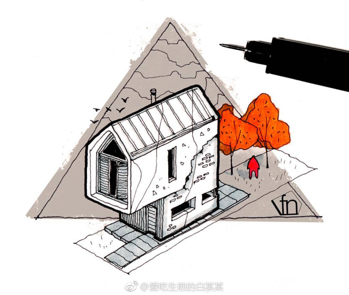 58建筑手绘表达可参考作为考研快题的分析图形式