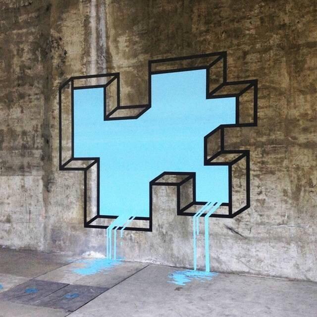 几何胶带视错觉艺术 | 美国纽约艺术家 aakash nihalani图片