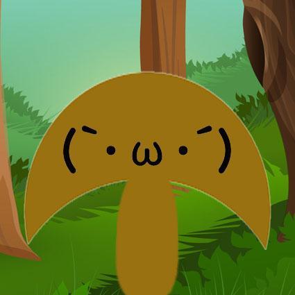森林里其他的小可爱们,也可以在蘑菇下躲雨了.