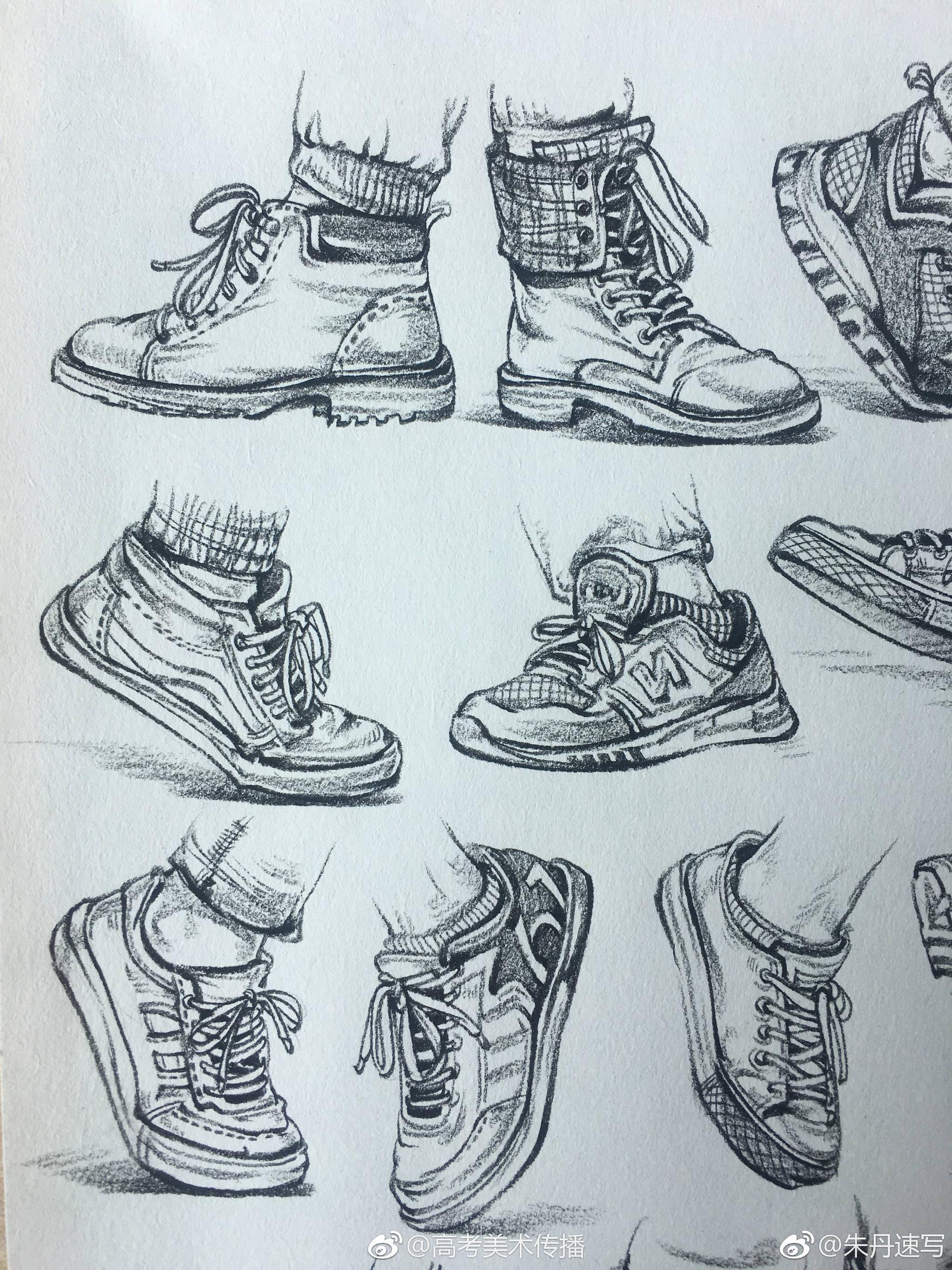 画速写鞋子要注意什么呢图片