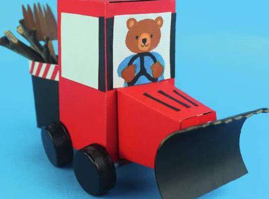 手工玩具:手工制作各式各样的小汽车,比买的还好玩呢