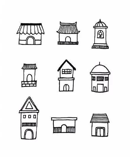 超可爱的小房子简笔画,手残党的绘画启蒙get 碉堡了